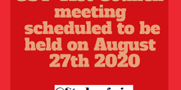 GST 41st Council meeting scheduled to be held on August 27th 2020