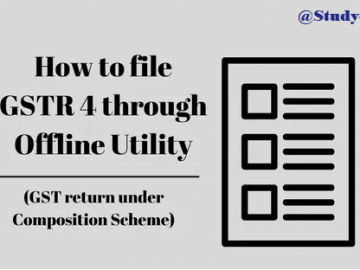 How to use offline Tool to prepare Form GSTR-4