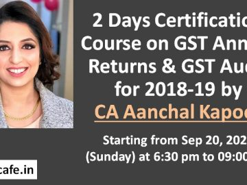 GST Annual Return GSTR-9 & GST Annual Audit GSTR-9C Certification Course
