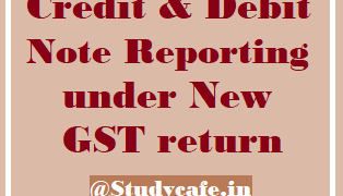 Delinking of Credit Note/Debit Note from invoice in Form GSTR 1/GSTR 6 or filing Refund