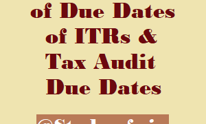 Due Dates of ITRs & Tax Audit Due Dates Extended?