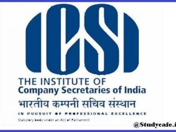 ICSI - Carry Forward of Examination Fees to June 2021 Exam session