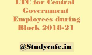 LTC for cash voucher scheme for Central Government Employees