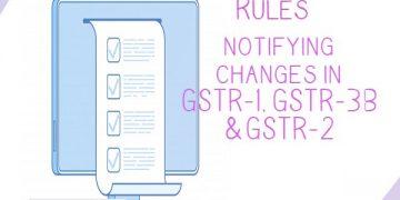 GST Rules notifying changes in GST Return GSTR-1, GSTR-3B & GSTR-2