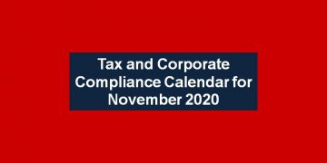 Tax and Corporate Compliance Calendar for November 2020