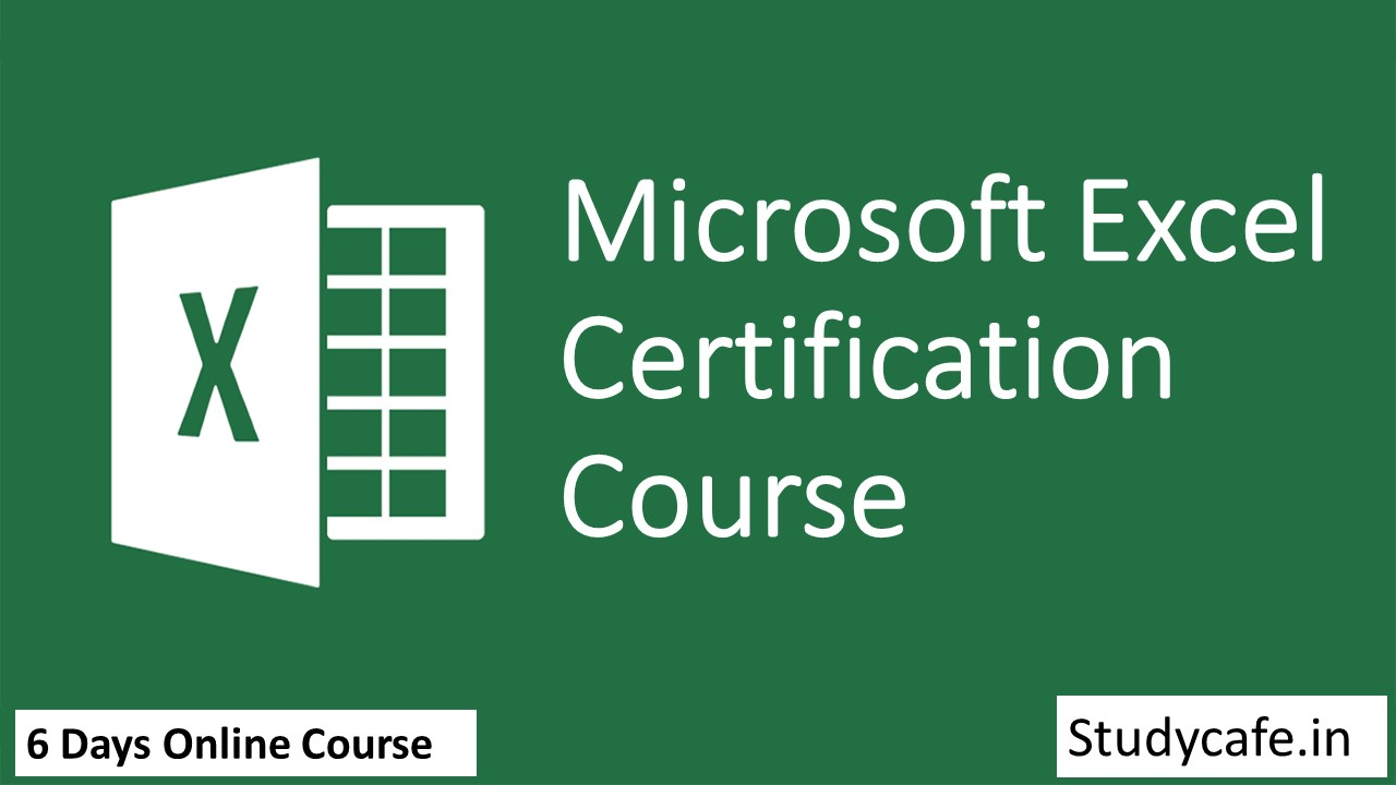 Microsoft Excel Certification Course by Studycafe