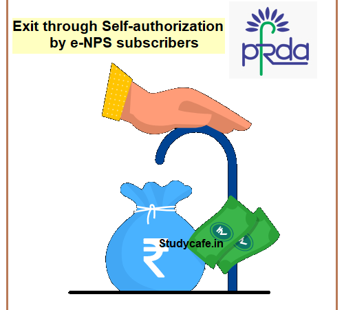 Exit through Self-authorization by e-NPS subscribers