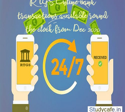 RTGS Online bank transactions available round the clock from Dec 2020