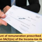 Amount of remuneration prescribed under section 9A(3)(m) of the Income-tax Act 1961