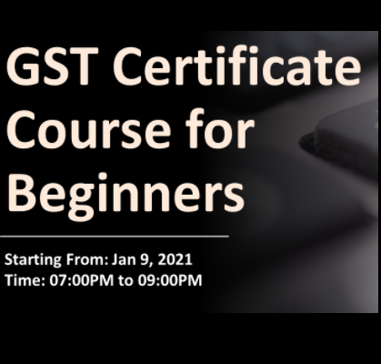 Online GST Certification Course for Beginners