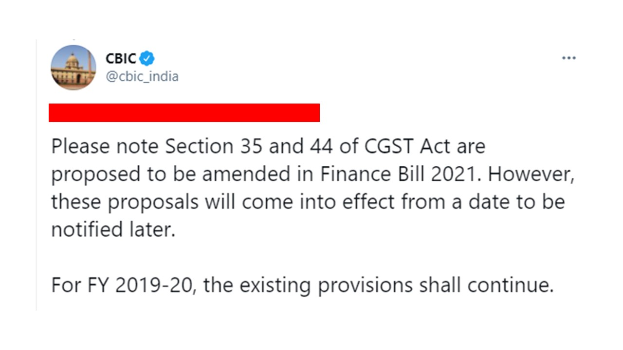 GST Audit Applicable for FY 2019-20 clarifies CBIC