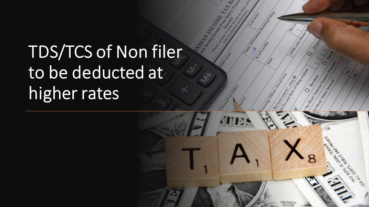 TDS/TCS of Non filer to be deducted at higher rates