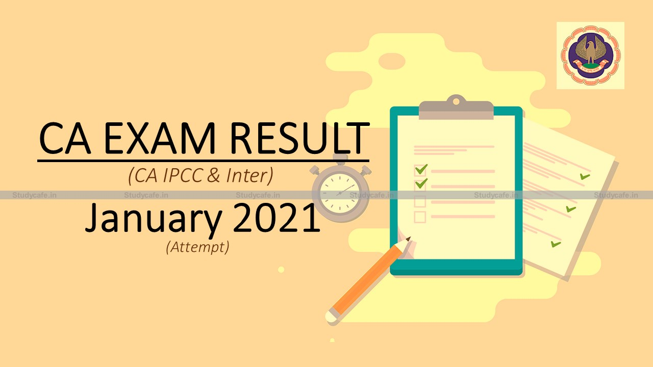 ICAI Announcement on declaration of CA Intermediate Exam Result on 26th & 27th March 2021