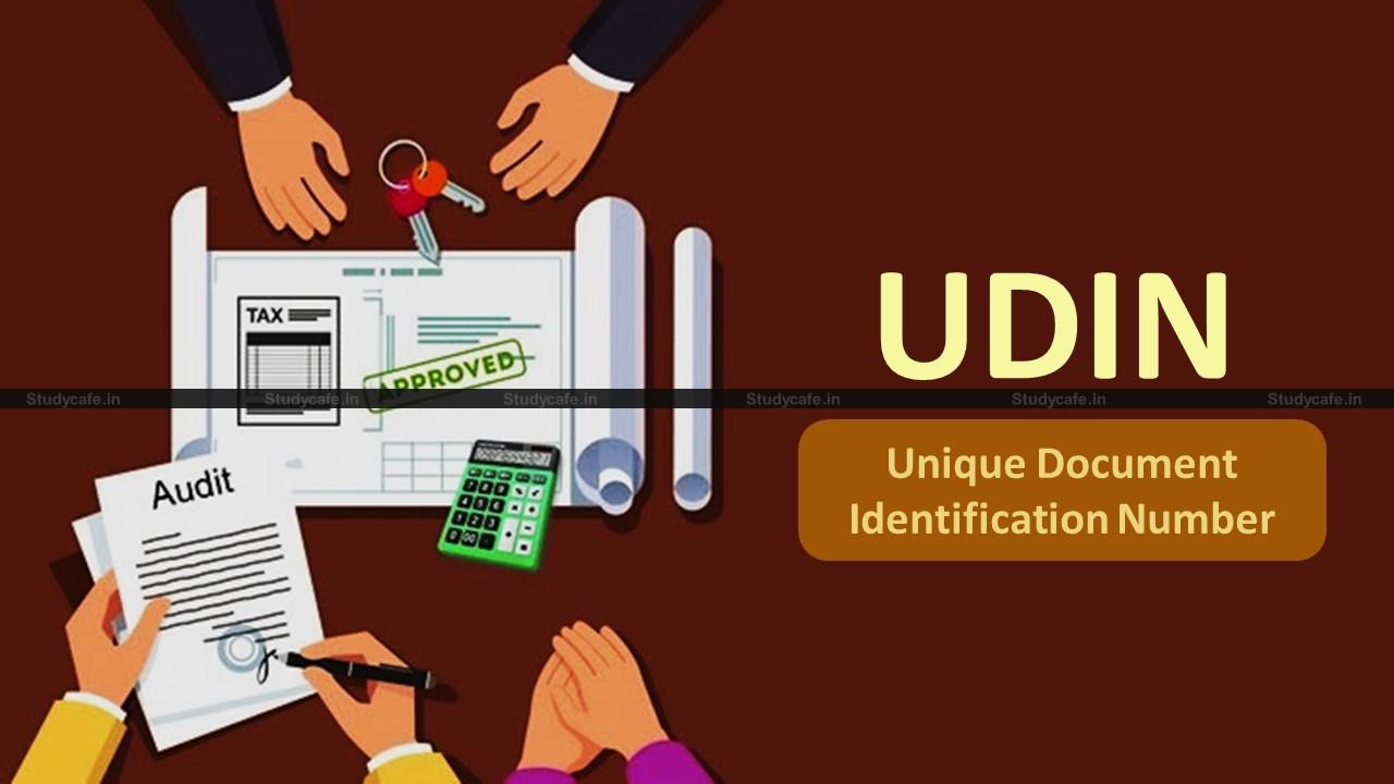 ICAI extends Condonation Scheme to regularize UDINs