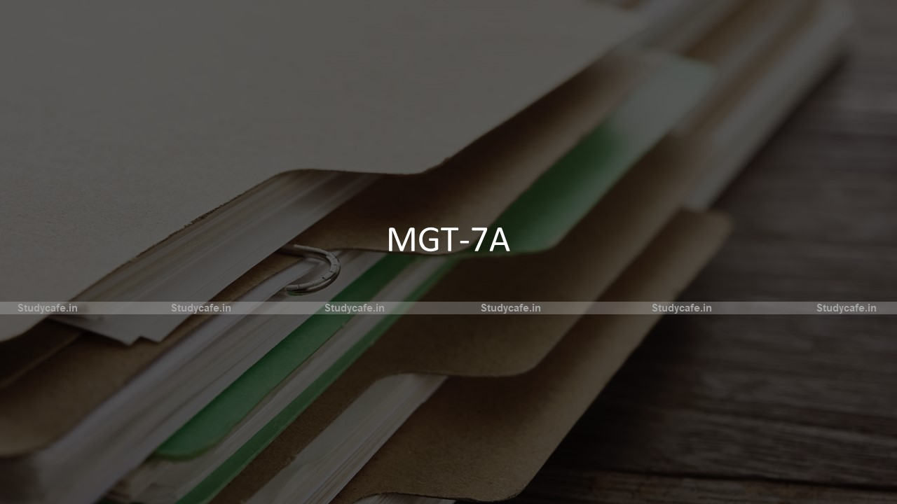 Faqs on E-Form MGT-7A