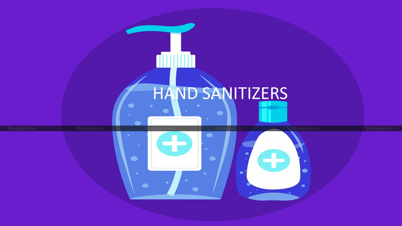 Hand sanitizers not medicaments, GST rate of 18% applicable