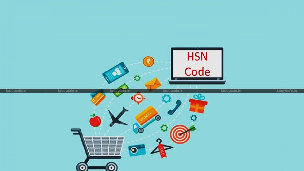 Mandatory to mention 4/6-digit HSN/SAC Code w.e.f. April 1, 2021