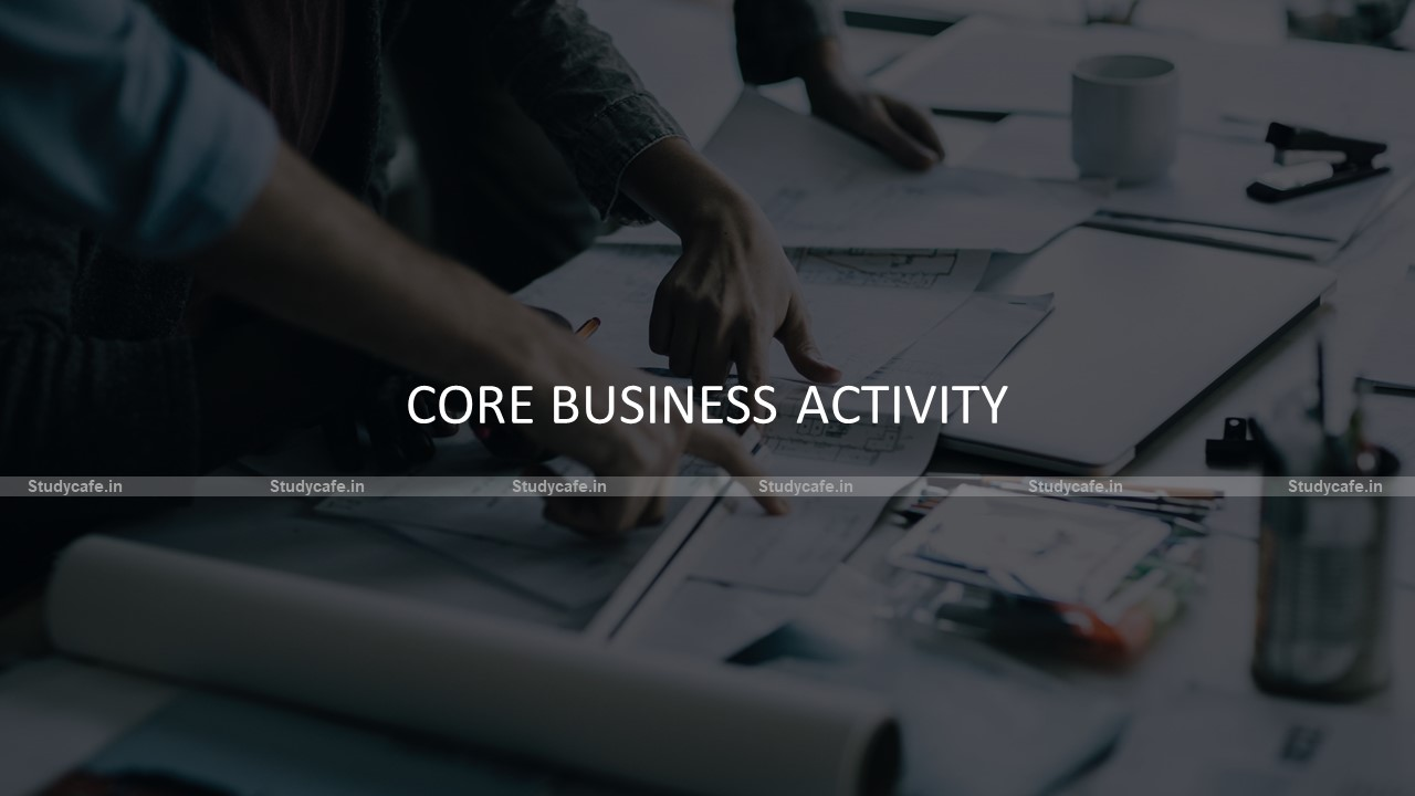 Option for selecting core business activity enable on GSTN