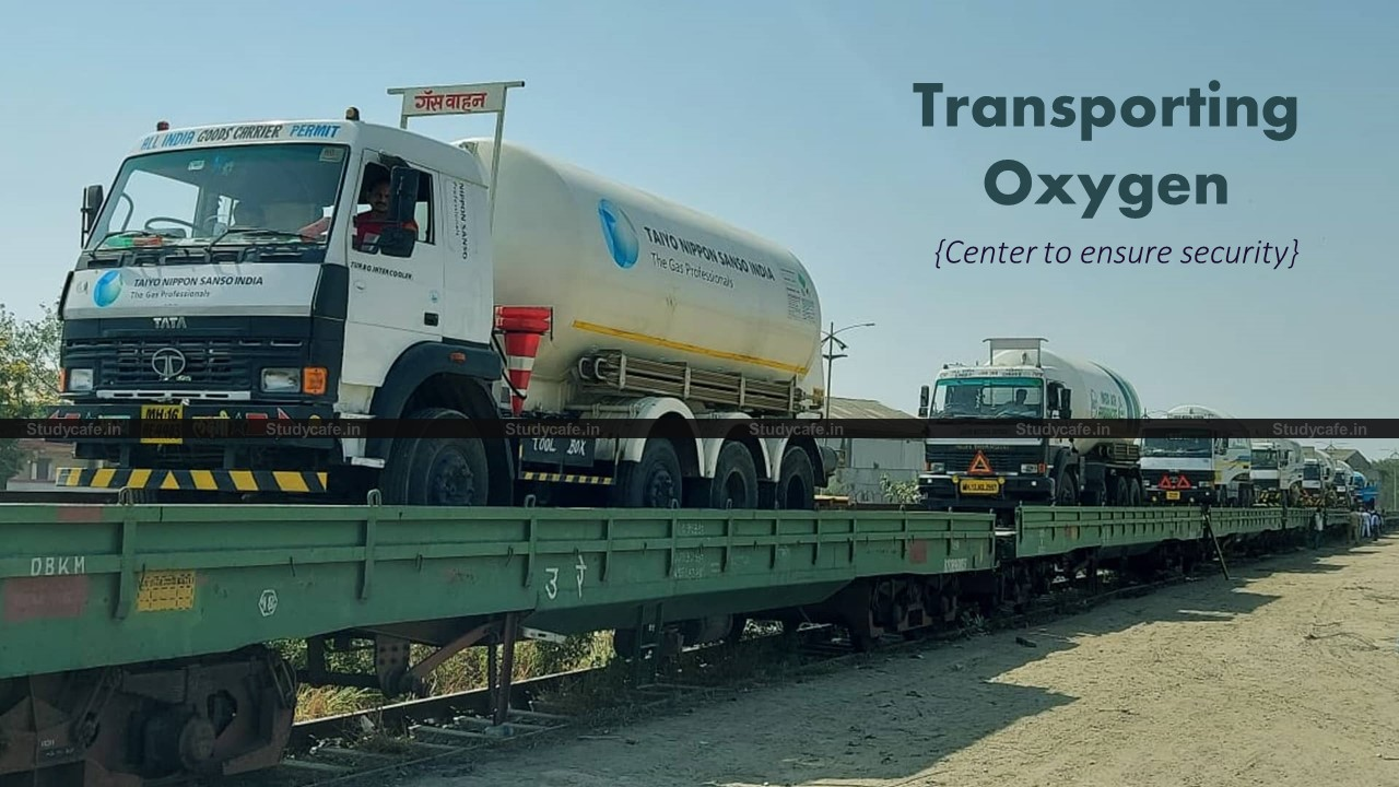HC directs Center to ensure adequate security for lorries transporting oxygen