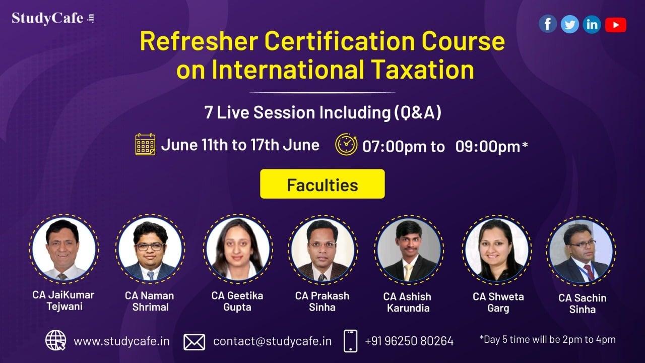 International Taxation Certification Course by Studycafe