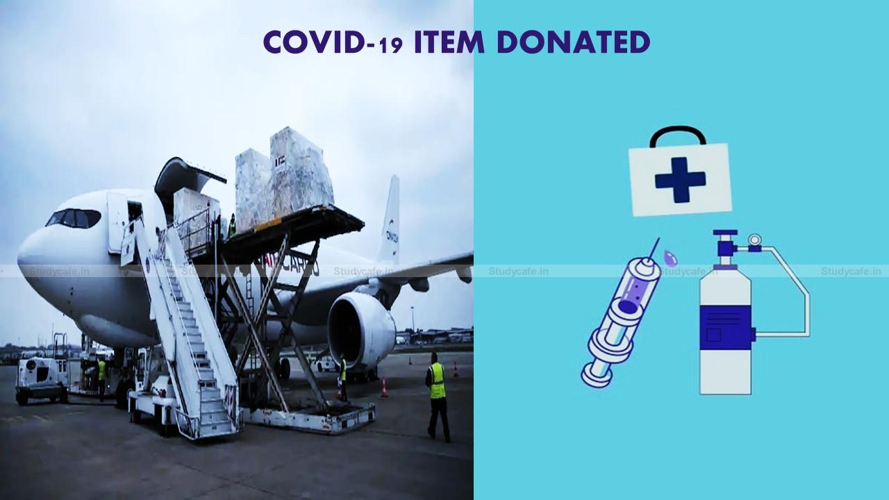 Haryana Govt allows reimbursement of GST on the donation of Covid items