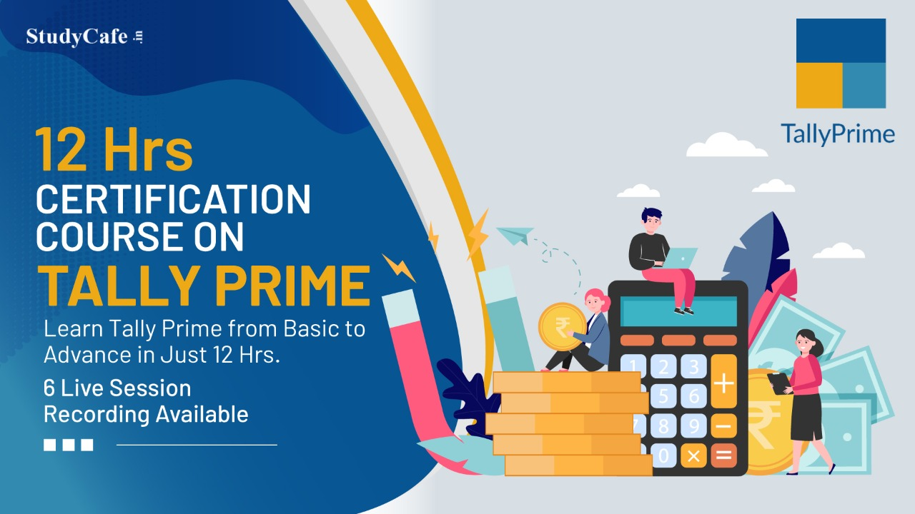 Join Tally Prime Basic to Advance Certification Course by Studycafe
