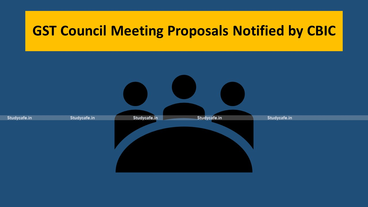 43rd GST Council Meeting Proposals Notified by CBIC