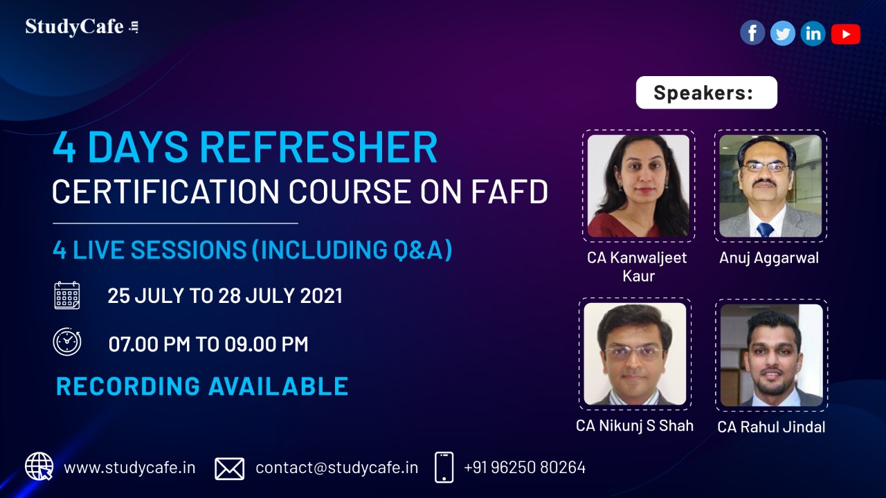 Online Refresher Certification Course on Forensic Audit & Fraud Detection (FAFD)
