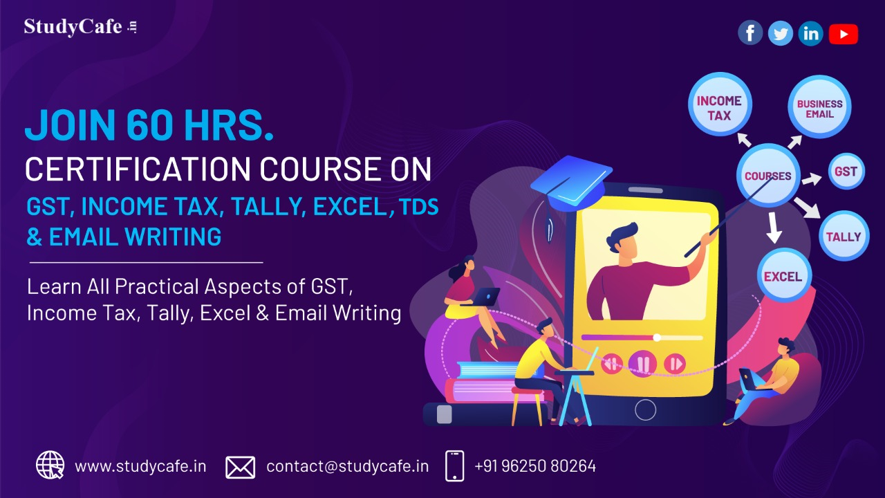 Practical Filing Certification Course on GST, ITR, TDS, Tally Prime & Excel