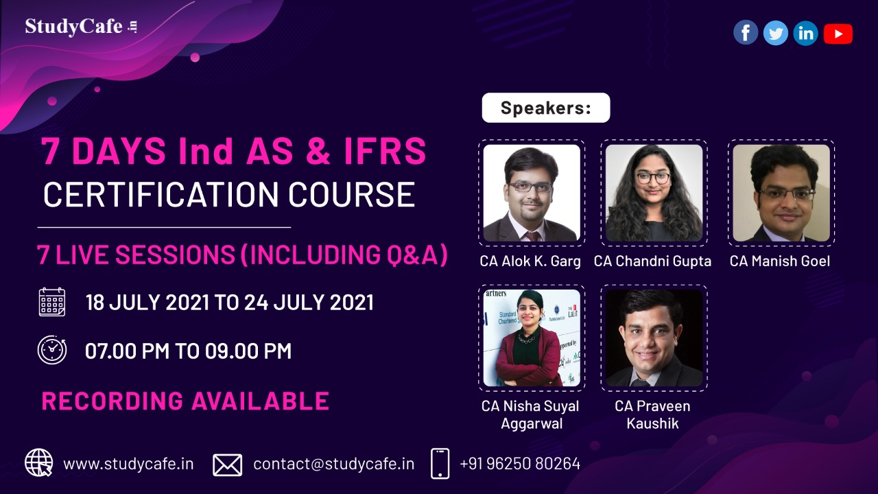 7 Days Ind AS & IFRS Certification Course