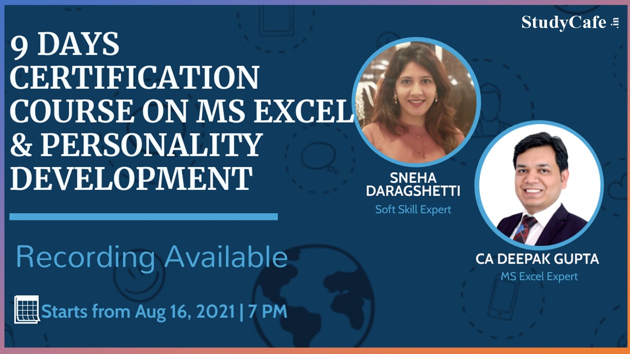 Certification Course on Microsoft Excel & Personality Development