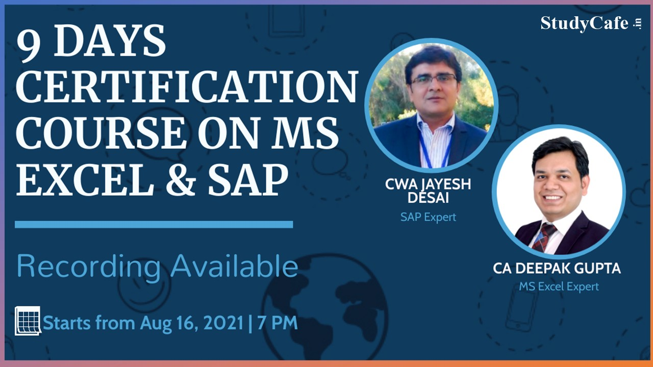 Microsoft Excel & SAP Certification Course by Studycafe