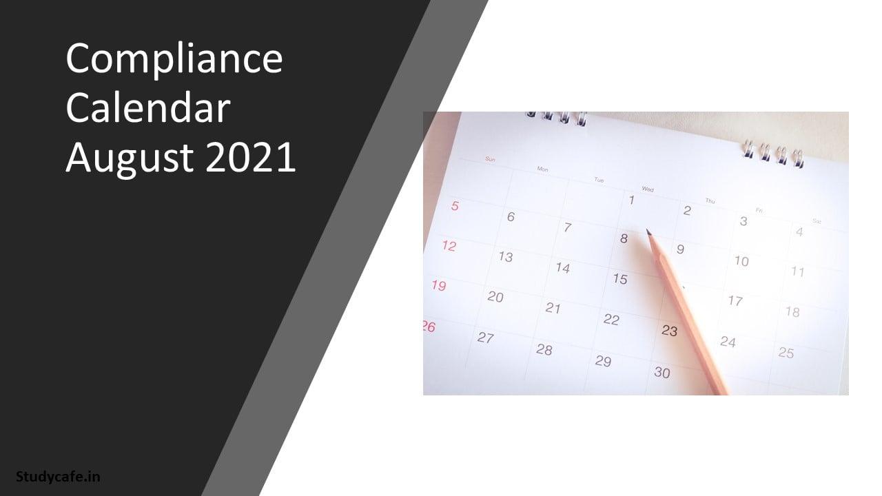 Compliance Calender August 2021