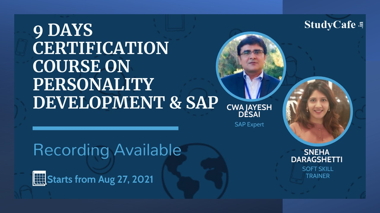 6 Days Certification Course on Personality Development & SAP