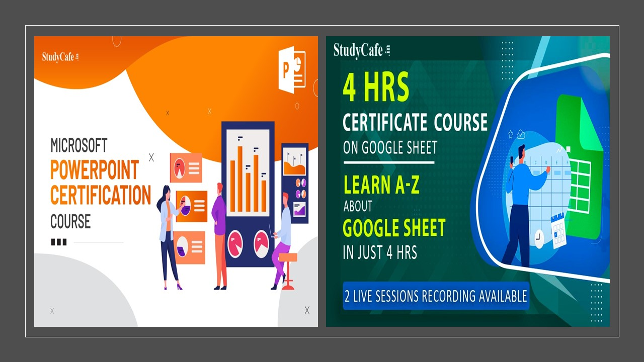 Google Sheet & Powerpoint Basic to Advance Online Certification Course