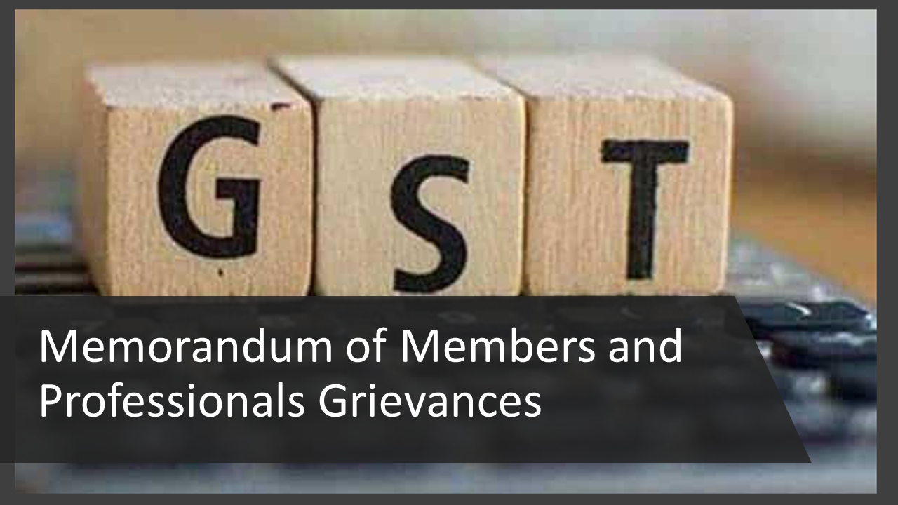 Members of CA Profession are the soft target of the GST Department: Faridabad Branch of NIRC ICAI