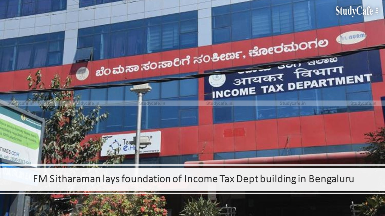 FM Sitharaman lays foundation of Income Tax Dept building in Bengaluru
