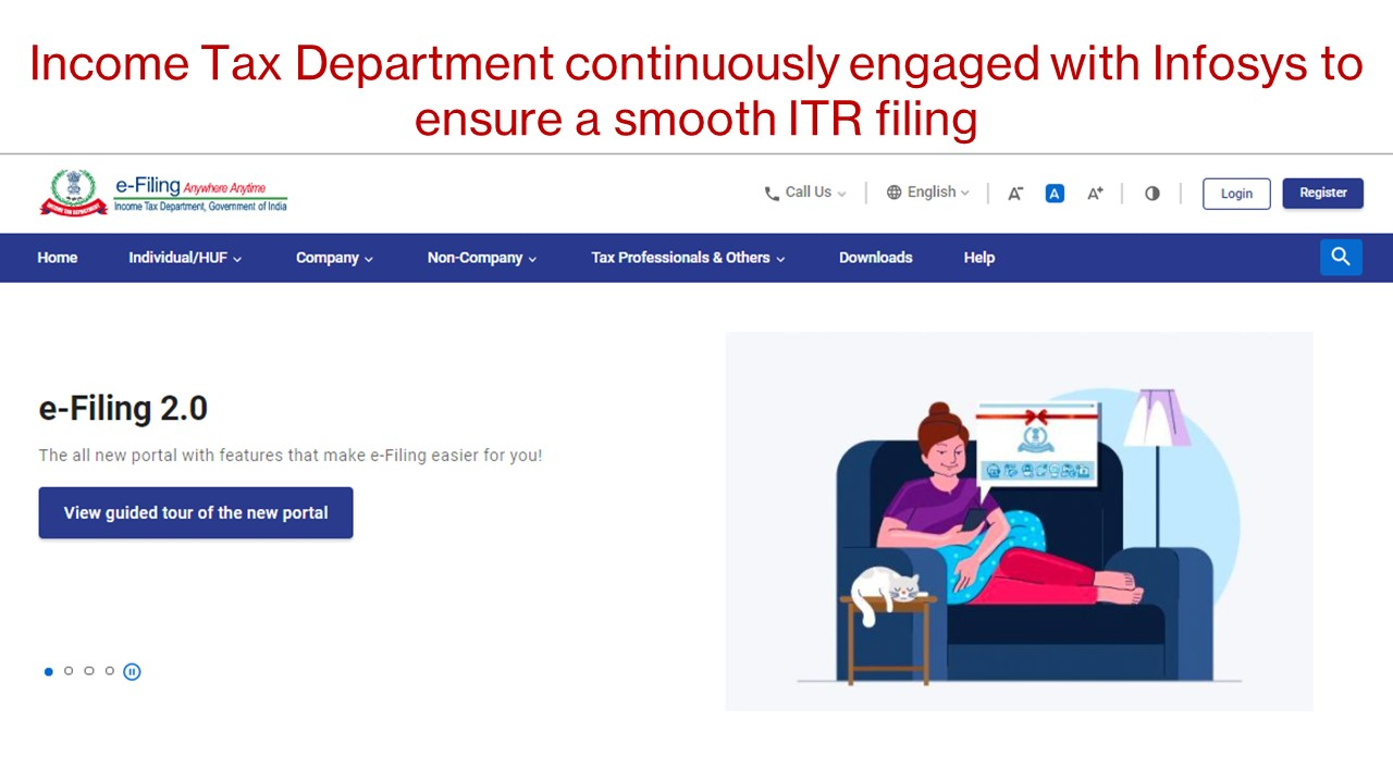 Income Tax Department continuously engaged with Infosys to ensure a smooth ITR filing