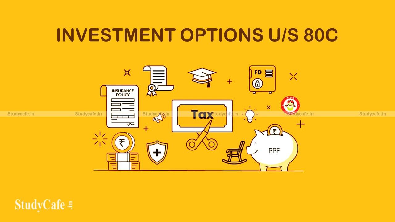 RECAP on Different Investment options under Sec-80C of IT Act, 1961
