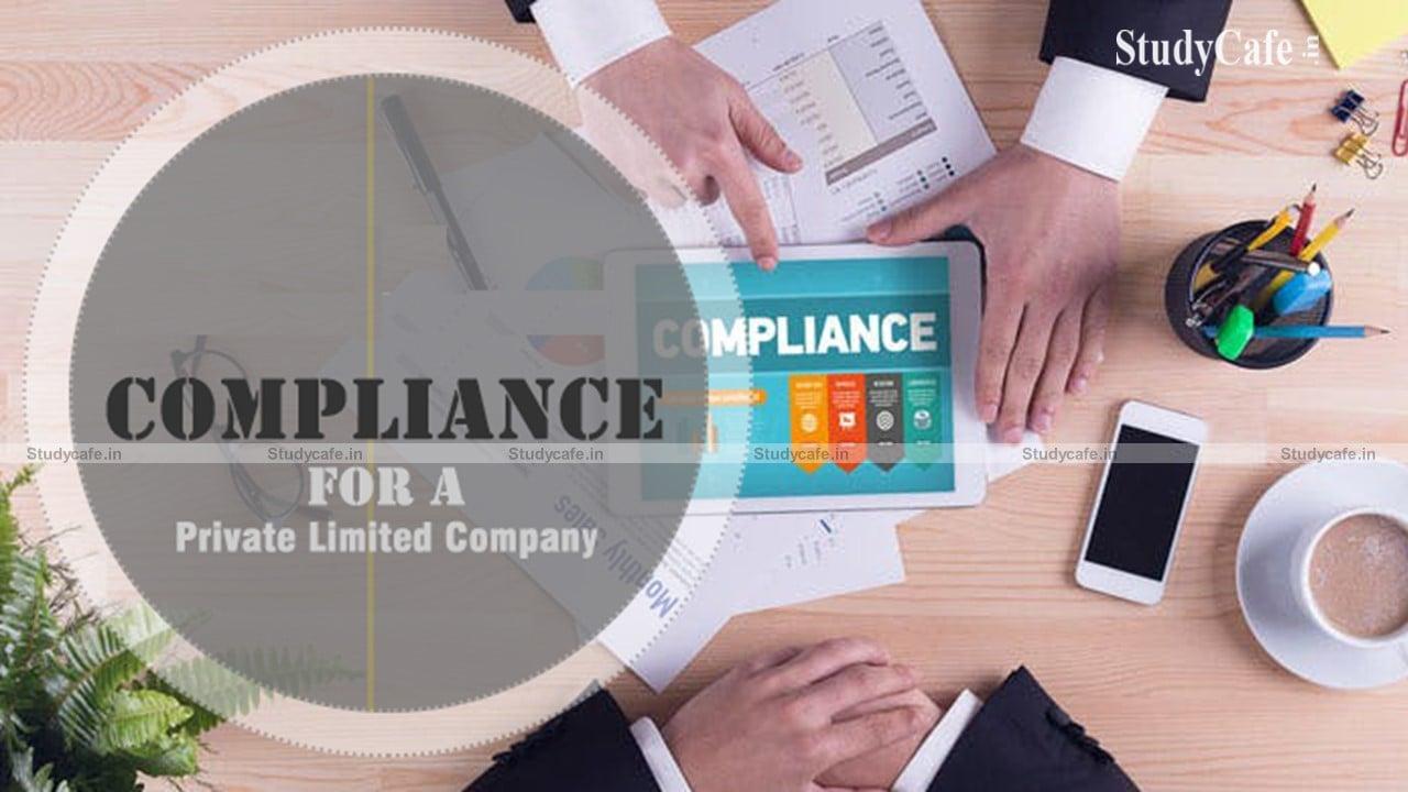 MCA due date compliance calendar for OPC and DIR 3 KYC