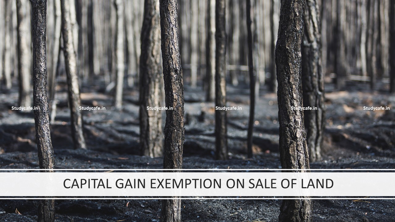 CAPITAL GAIN EXEMPTION ON SALE OF LAND