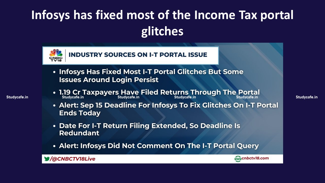 Infosys has fixed most of the Income Tax portal glitches