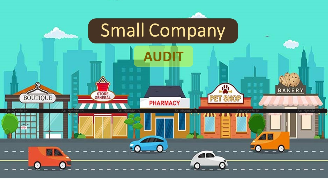 Representation on Proposal to do away with Statutory Audit of Small Companies by VOCA