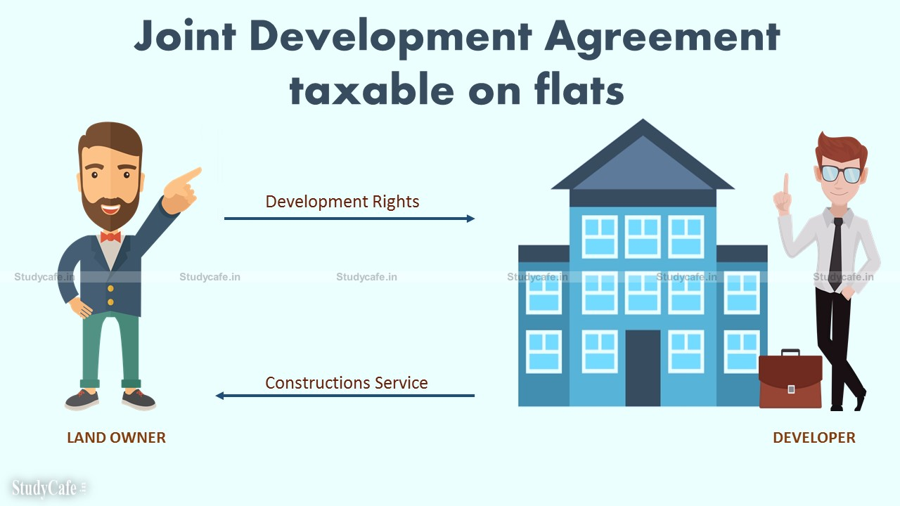 Transfer of Development Rights under JDA taxable on value of similar flats offered to independent buyers