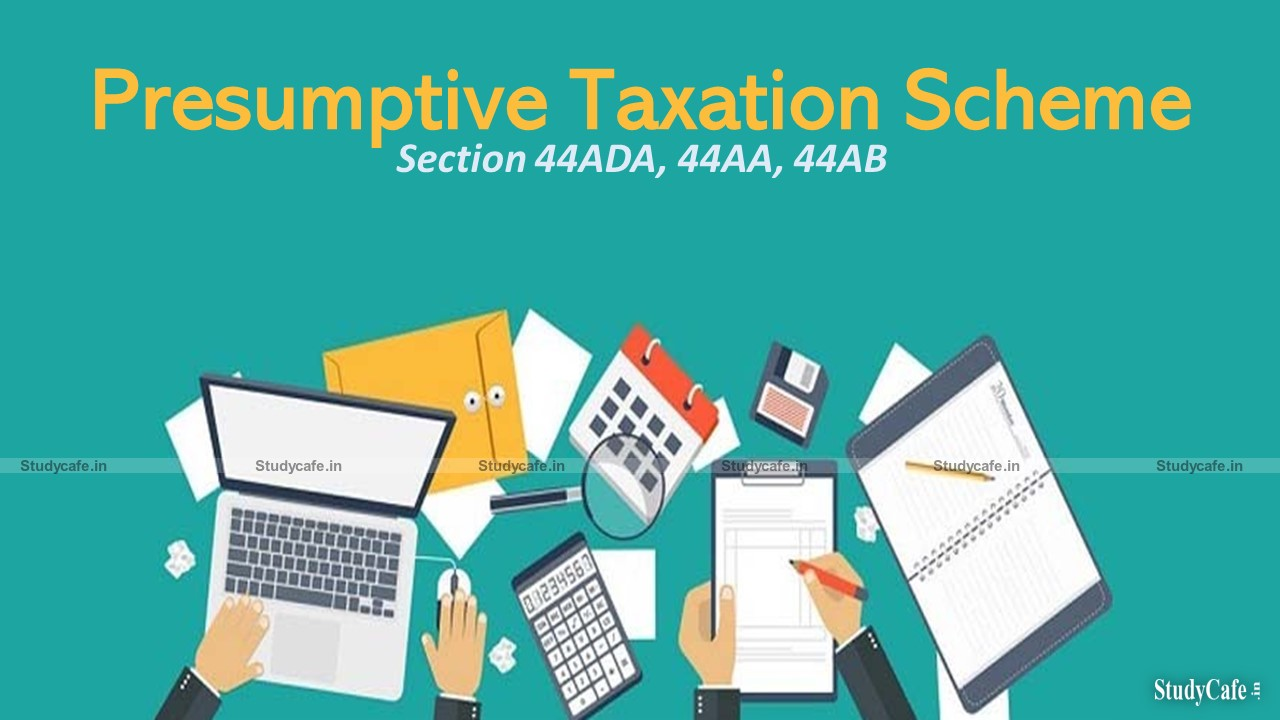 Special provision for computing profits and gains of profession on presumptive basis
