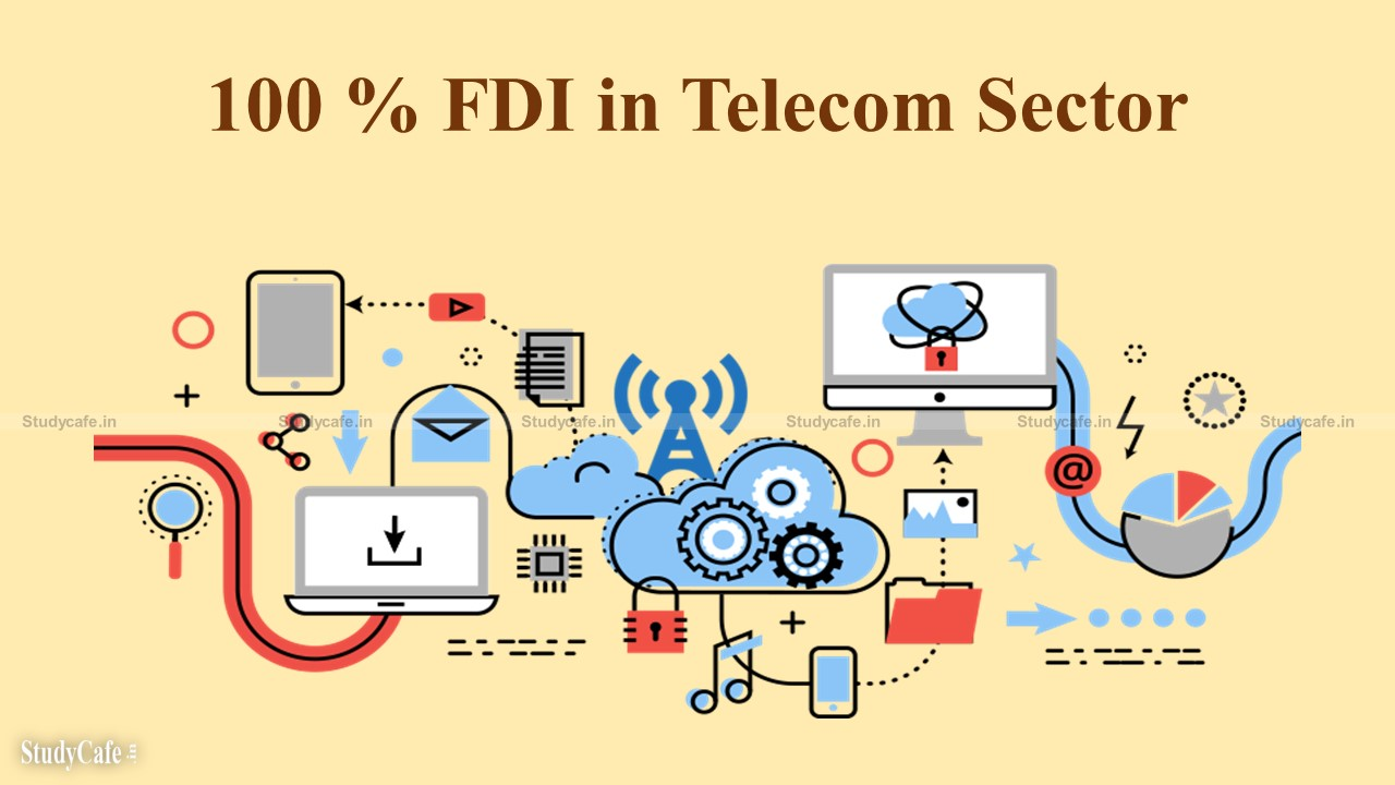 Telecom sector 100% FDI via automated route is permitted: Union Minister