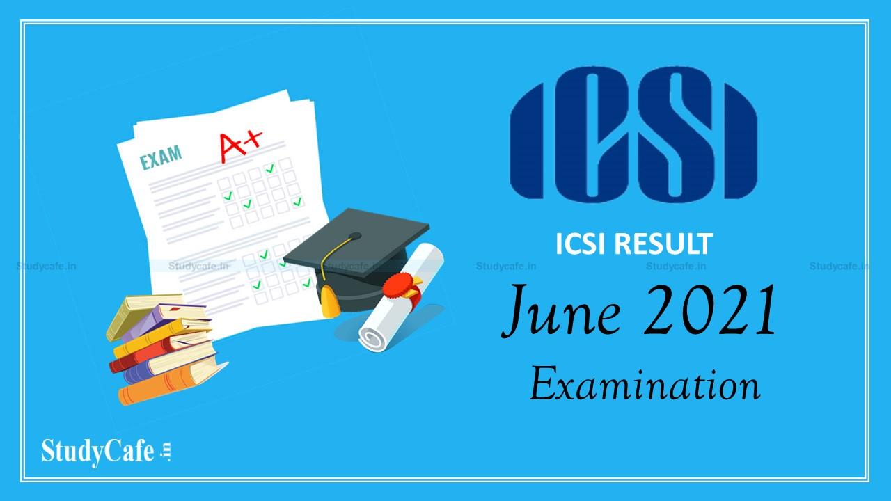 ICSI declared the result of CS June 2021 Examination