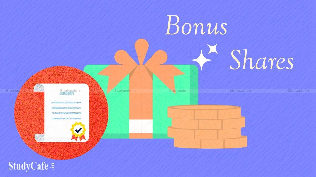 Bonus Share Issue Procedure under Companies Act