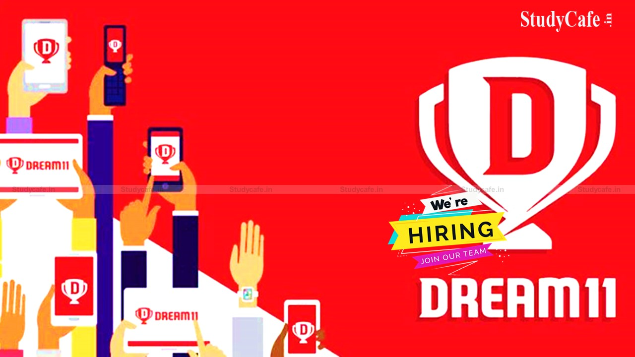Job Opportunity for Chartered Accountant for the post of Executive Finance At Dream 11