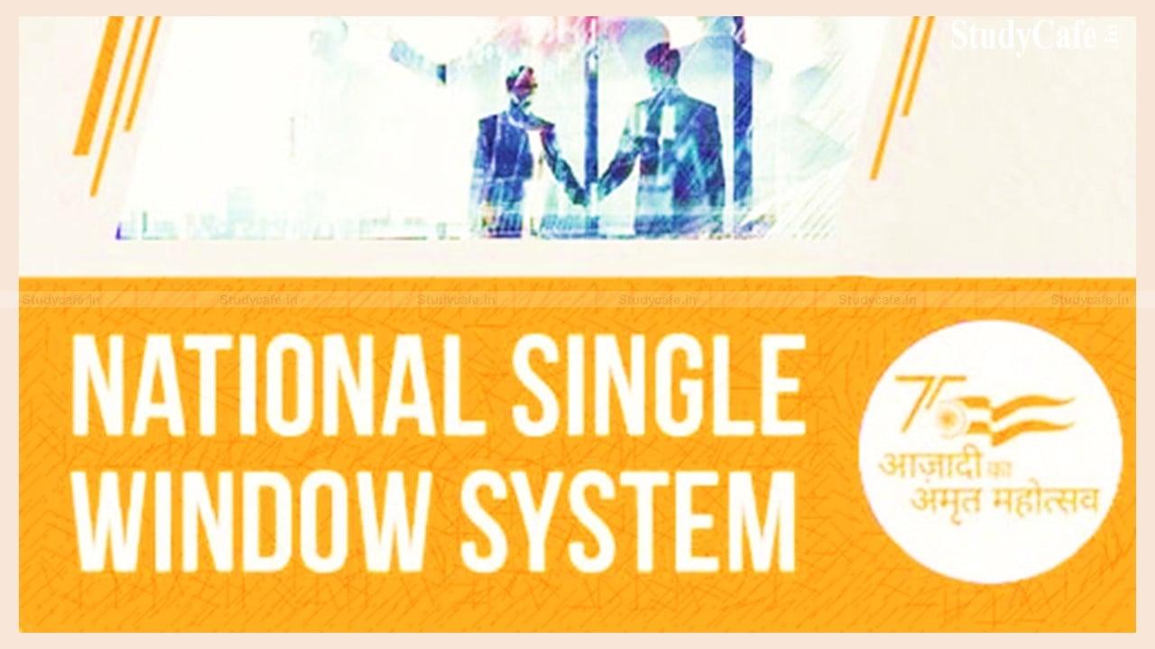 NATIONAL SINGLE WINDOW SYSTEM